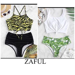 2/$30 ZAFUL High Waisted Tankini Bikini Sw…